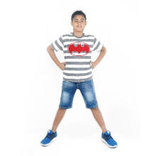 KIDS ICON - Kaos Anak Laki-laki Batman Grey Stripes T-Shirt - BM303900180
