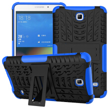 RockWolf Samsung Tab 4/T230 case TPU anti-fall colorful back clip bracket flat shell