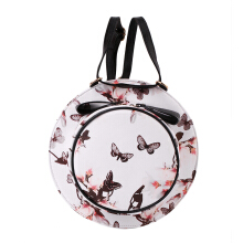 [LESHP]Fashion Creative Cute Hat Shape PU Leather Round Bow Shoulder Bag White Black