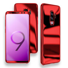 Bakeey Plating 360° Full Body PC Front+Back Cover Protective Case+HD Film For Samsung Galaxy S9/S9 Plus Red