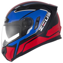 ZEUS  ZS-813 MBLK AN6 - Helm Full Face - Blue Red