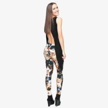 [OUTAD] Fashion Printing Women Pants High Elastic Bottoming Pants Casual Trousers Multicolor
