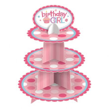 Radysa Stand Cup Cake 3 Tier Polkadot Besar - Girl Pink Others
