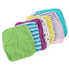xzante Baby Face Washers Hand Towels Cotton Wipe Wash Cloth 8pcs/Pack