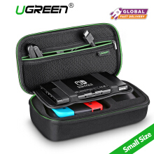 UGREEN Shockproof Case for Nintendo Switch Travel Carrying Case Bag Pouch with Carved EVA Liner, for Nintendo Switch Console, Wall Charger, Digital Storage Bag Small Size