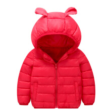 Anamode Fashion Boys Girls Hooded Parka Jacket Kids Cute Winter Coat Clothes -Red