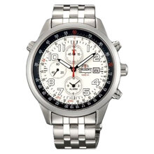 Orient FTD09008W Sport Chronograph Men Watch White Dial Stainless Steel [FTD09008W]