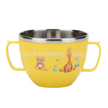 SiYing Insulation anti-scalding primary school cartoon rice bowl baby feeding bowl