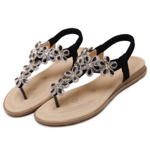 Jantens New 2018 fashion shoes women Bohemia flat sandals crystal summer shoes flip flops ladies sandals