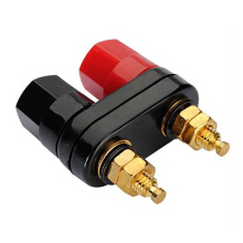 Couple Terminals Red Black Connector Amplifier Binding Post Banana Speaker Plug Jack