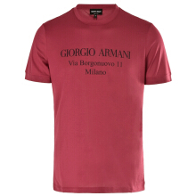 Armani men's T-shirts round letter printing short sleeves 3GST57