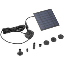 [COZIME] Solar Power Fountain Pool Water Pump Garden Sun Plants Watering Outdoor Black1
