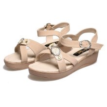 SANDAL HIGH HEELS / WEDGES KASUAL WANITA - BSP 129