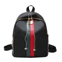 Keness Fashion rivet versatile student small backpack Korean version of the female bag backpack Black