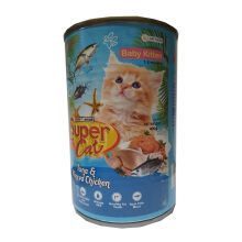 Super Cat Chicken Tuna Kitten Can 400gr