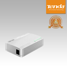Tenda S105 5-port Ethernet Switch Plug & Play - White