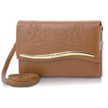BLACKKELY - CLUTCH / DOMPET / WALLET KASUAL WANITA - LBA 860 - Cokelat