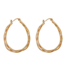 musheng jewelry gold-plated round circle hoop earrings