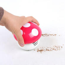 Jantens Cute mini mushroom table dust keyboard dust vacuum cleaner sweeper unique small vacuum hand-held sweeper for home office
