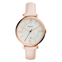 Fossil Jacqueline White Dial Rosegold Blush Leather Strap Watch [ES3988]