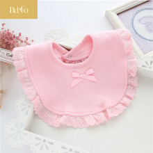 BLINGO BY06 Fashion cotton newborn lace bow baby bib cute girl and boy smashing cloth baby bib baby saliva towel
