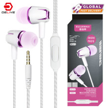 DELIVE Fashion Earphone Stereo Earbuds For Samsung Xiaomi Phones Call Music Gaming earphone