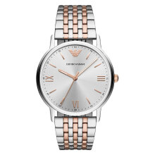 Emporio Armani Kappa AR11093 Silver Dial Dual Tone Stainless Steel Strap [AR11093]