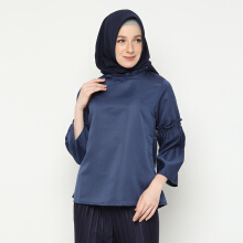 NAFEESA Tunik Adawiyah Navy Navy Blue All Size