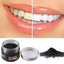 Farfi Natural Organic Coconut Activated Charcoal Teeth Whitening Powder Oral Hygiene as the pictures