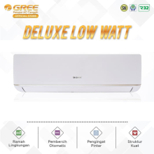 AC GREE 1/2 PK GWC-05C3E DELUXE LOW WATT - PUTIH [INDOOR+OUTDOOR UNIT ONLY]