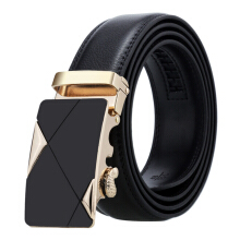 Dandali Original imported Business Men's Automatic Buckle Belt Two Layer Leather Belt