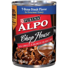 ALPO 368 gr chop house t-bone steak flavor in gourmet gravy