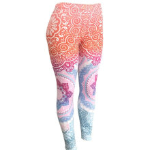 Women Yoga High Waist Printed Leisure Hip Lifting Bottoming Leggings 7103 Colorful S