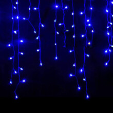 Christmas 4M 96 LED Indoor Outdoor String Lights 110-220V Curtain Icicle Drop LED Party Garden Stage Decor Blue