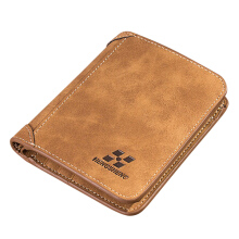 Zanzea Men Multi Card Slots Wallet Card Holder Slim Wallet with 8 Card SLots & 2 ID Windows Brown