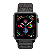 APPLE Watch Series 4 GPS 44mm MU6E2 Space Gray Aluminum Case with Black Sport Loop
