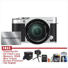 Fujifilm X-A3 / XA3 Kit 16-50mm - SILVER - FREE Accessories