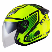 KYT Galaxy Slide - Helm Half Face - Super Fluo Edition #01