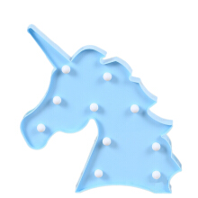 Farfi Unicorn Head Wall-Mounted LED Lamp