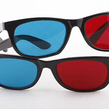 Farfi Lightweight Red Blue Cyan Plastic Frame 3D Glasses for Anaglyph Movie Game DVD