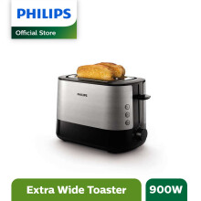 PHILIPS Pop Up Toaster Extra Wide 2 slots HD2637/90