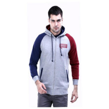 G-SHOP - MEN SWEATER JAKET HOODIES DISTRO PRIA - FHM 1389 - ABU SIZE- M