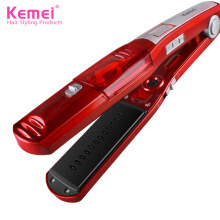 Kemei KM - 3011 Vapor Hair Steam Spray Ceramic Electric Straightener Fast Styler EU Plug Red