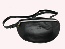 Tas selempang Waist Bag Alexa Leather Unisex Black Beauty Gum
