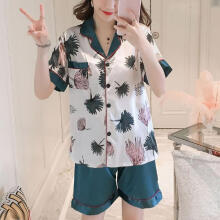 2019 newWomens Shorts Sleeve Sleepwear Short  Nightwear Pant Sets _M