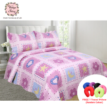 VINTAGE STORY Shabby Bed Cover Set Korea Size King 220x240 cm/P25