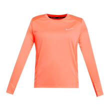 NIKE As W Nk Miler Top Ls - Crimson Pulse/(Reflective Silv)