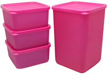 Lula Food Storage  Isi 4 Pink