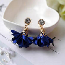 Jantens 2018 Korean New Shiny Crystal Cloth Flower Drop Summer Accessories