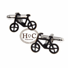 HOUSEOFCUFF Cufflinks Manset Kancing Kemeja French Cuff BAT SYMBOL CUFFLINKS Black